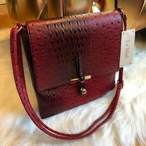 PRICE FIRM!  Le Miel Red Crossbody Bag